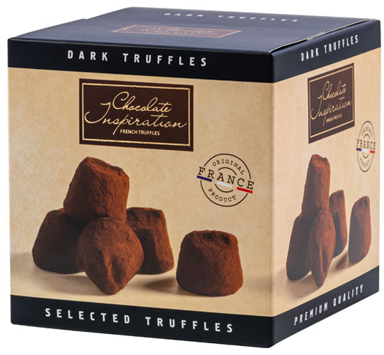 French dark chocolate truffles