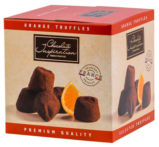Candied orange peels French truffles