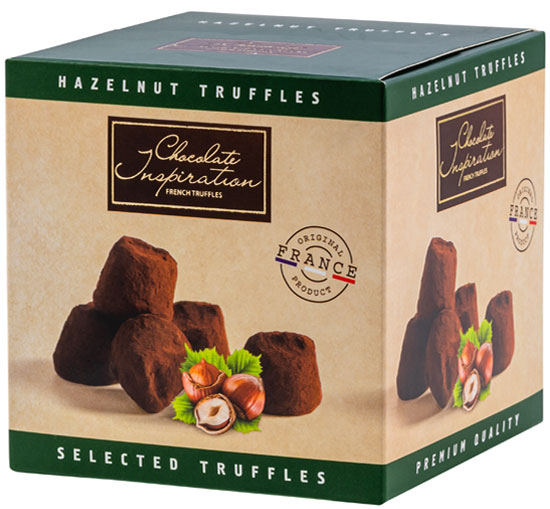 Hazelnut pieces French truffles