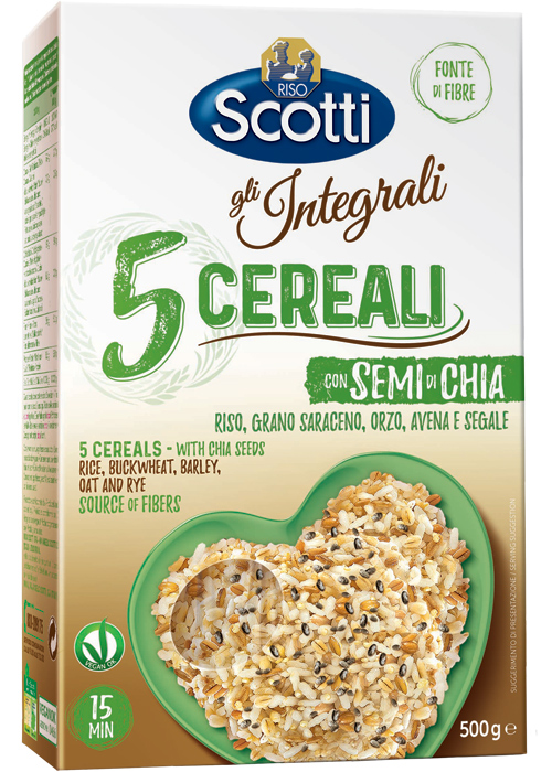 5 cereals with Chia