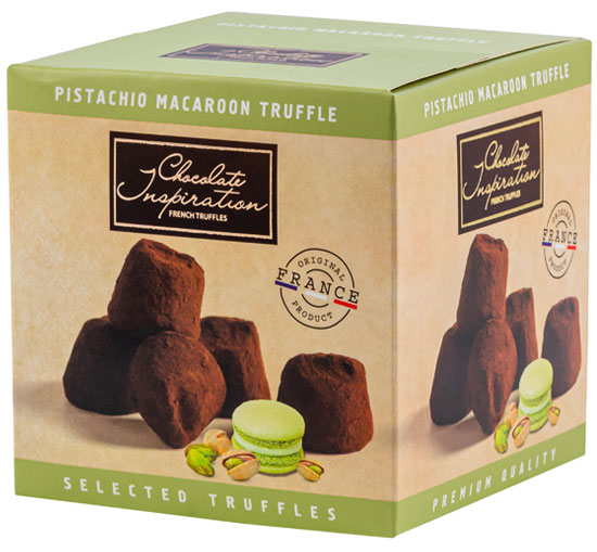 Pistachio macaroon chips French Truffles